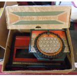 A vintage child's Simplex typewriter in original box