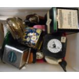 A box containing assorted collectable items