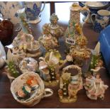 A selection of Continental porcelain figures including Dresden - sold with two Royal Doulton