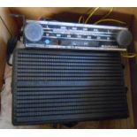 A vintage Blaupunkt Bluespot car radio and speakers