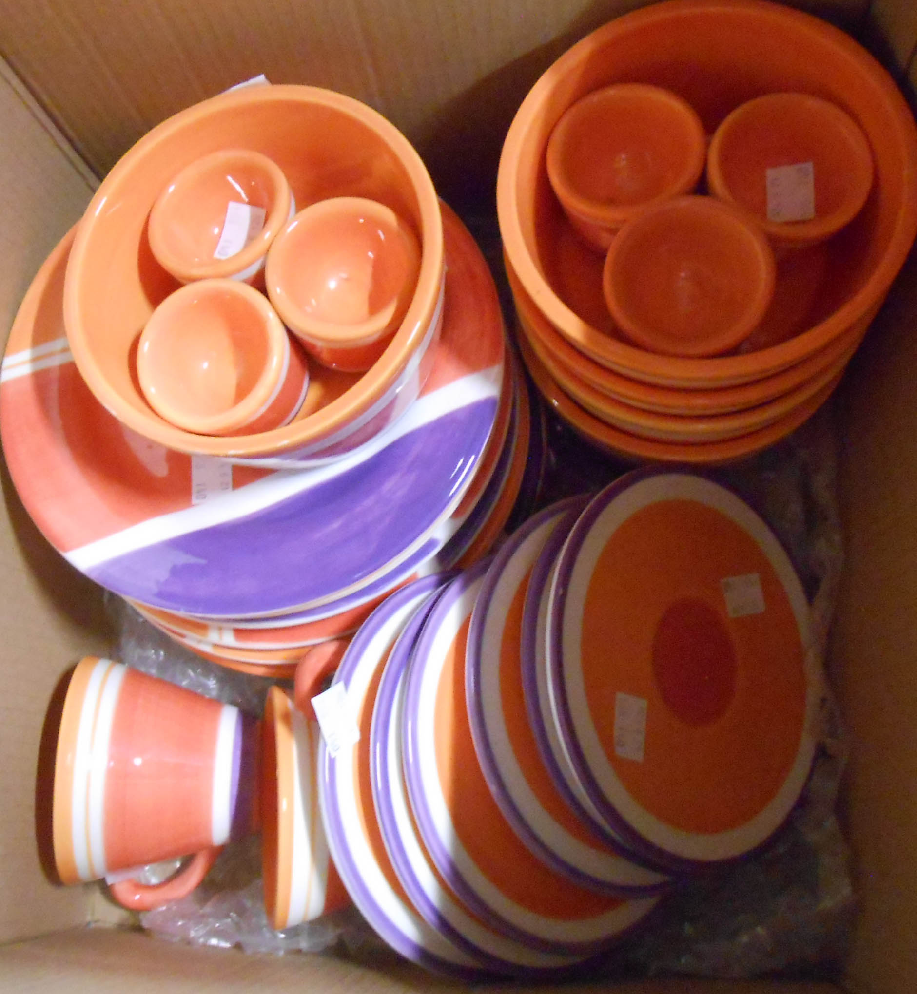 Two boxes containing assorted Habitat tableware