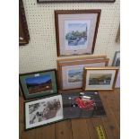 A quantity of vintage and later decorative prints