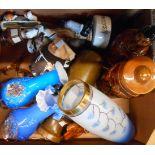 A box containing a quantity of ceramics and glassware