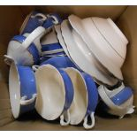 A box containing assorted Wilkinson Royal Staffordshire dinner ware including tureen, sauce boats,