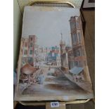 G. St. J. Smithy: an unframed watercolour entitled A Street in Alexandria - signed, titled and dated