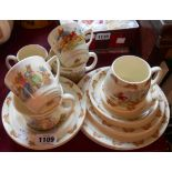 A quantity of Royal Doulton Bunnykins ware including mugs, bowls, cups and saucers, plates, etc.