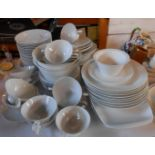 An extensive Rosenthal white glazed part dinner service including soup bowls, plates, etc.