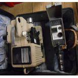 A vintage Eumig S2 cine camera - sold with a Eumig P8 projector
