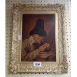 C.B. Birch: a gilt gesso framed mid 19th Century oil on board copy of a German oil portrait,