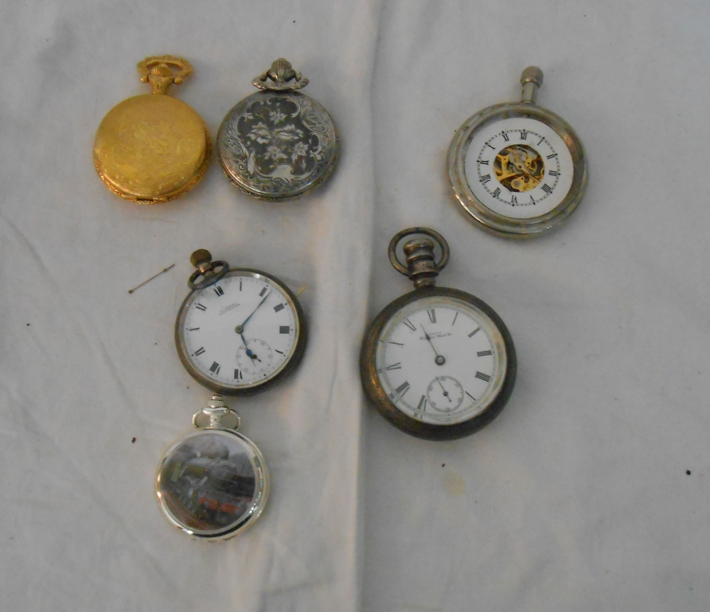 A silver cased lever pocket watch and others - various age and condition