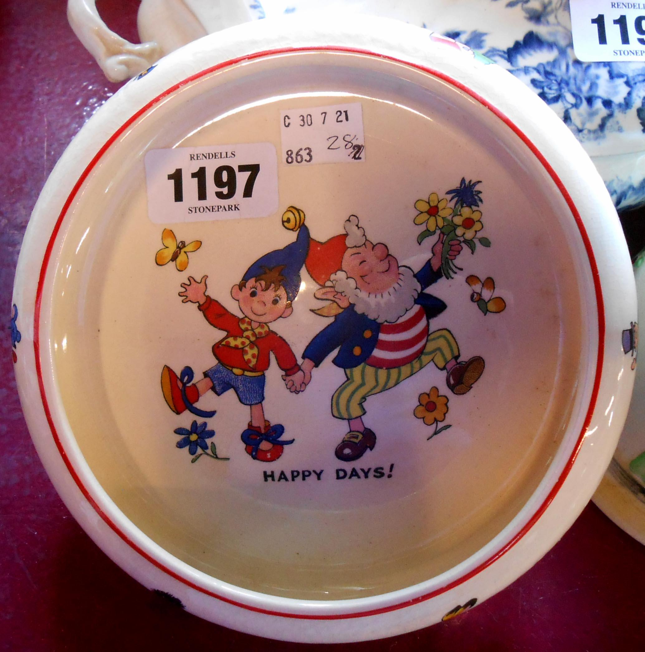 A vintage Biltons Noddyware child's bowl