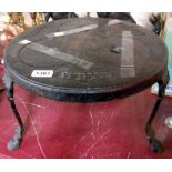 A late 19th/early 20th Century painted cast iron Primus Tripod Stand camping stove - no burner