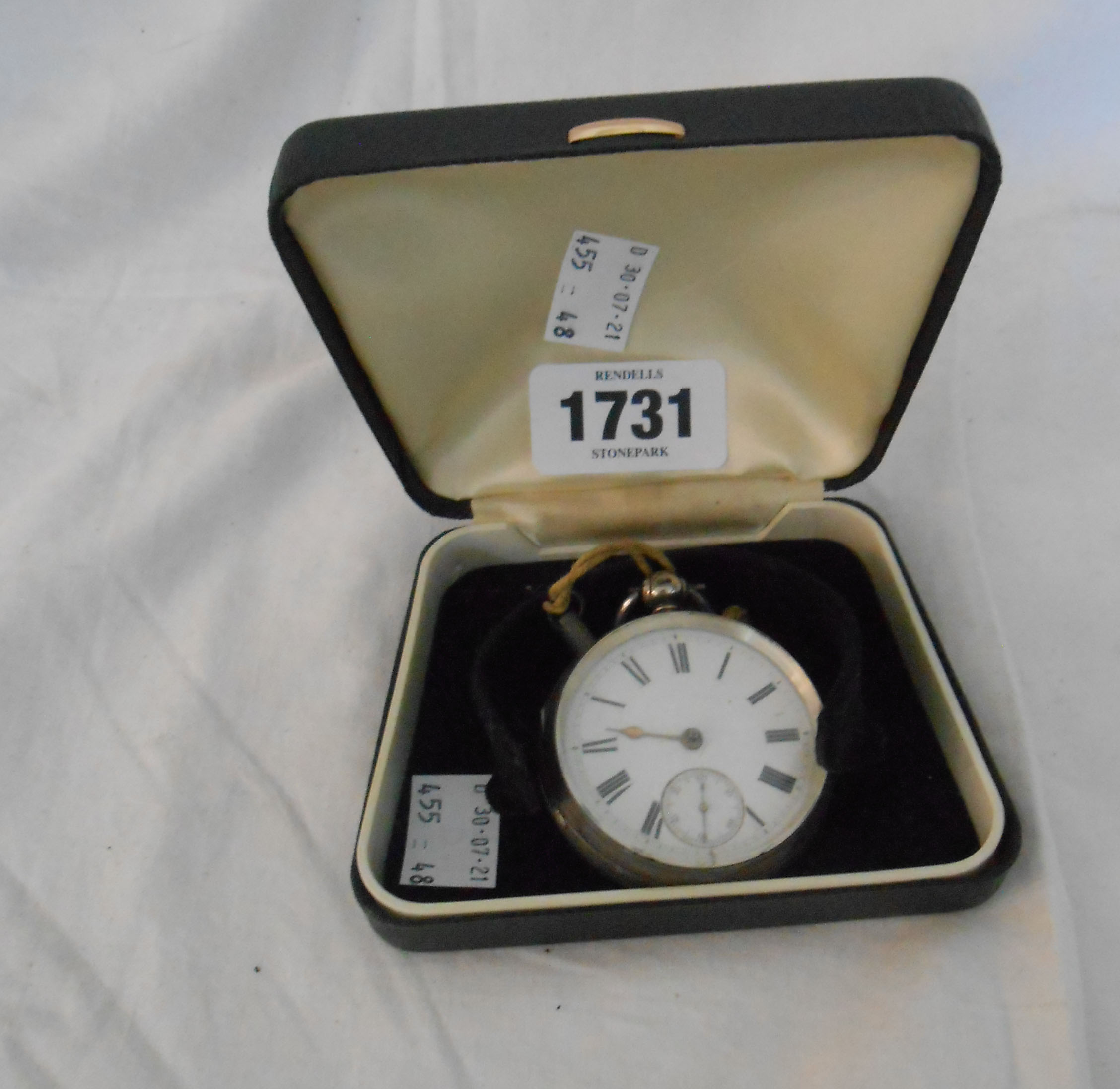 A silver cased pocket watch with fusee movement - Chester 1870's