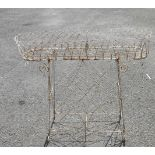 A late Regency wirework planter of oval form