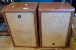 A pair of vintage Sony wooden case hi fi speakers