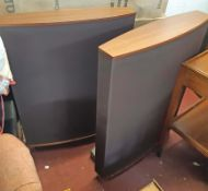 A pair of Quad ESL 63 Electrostatic speakers - original boxed and with power cables and
