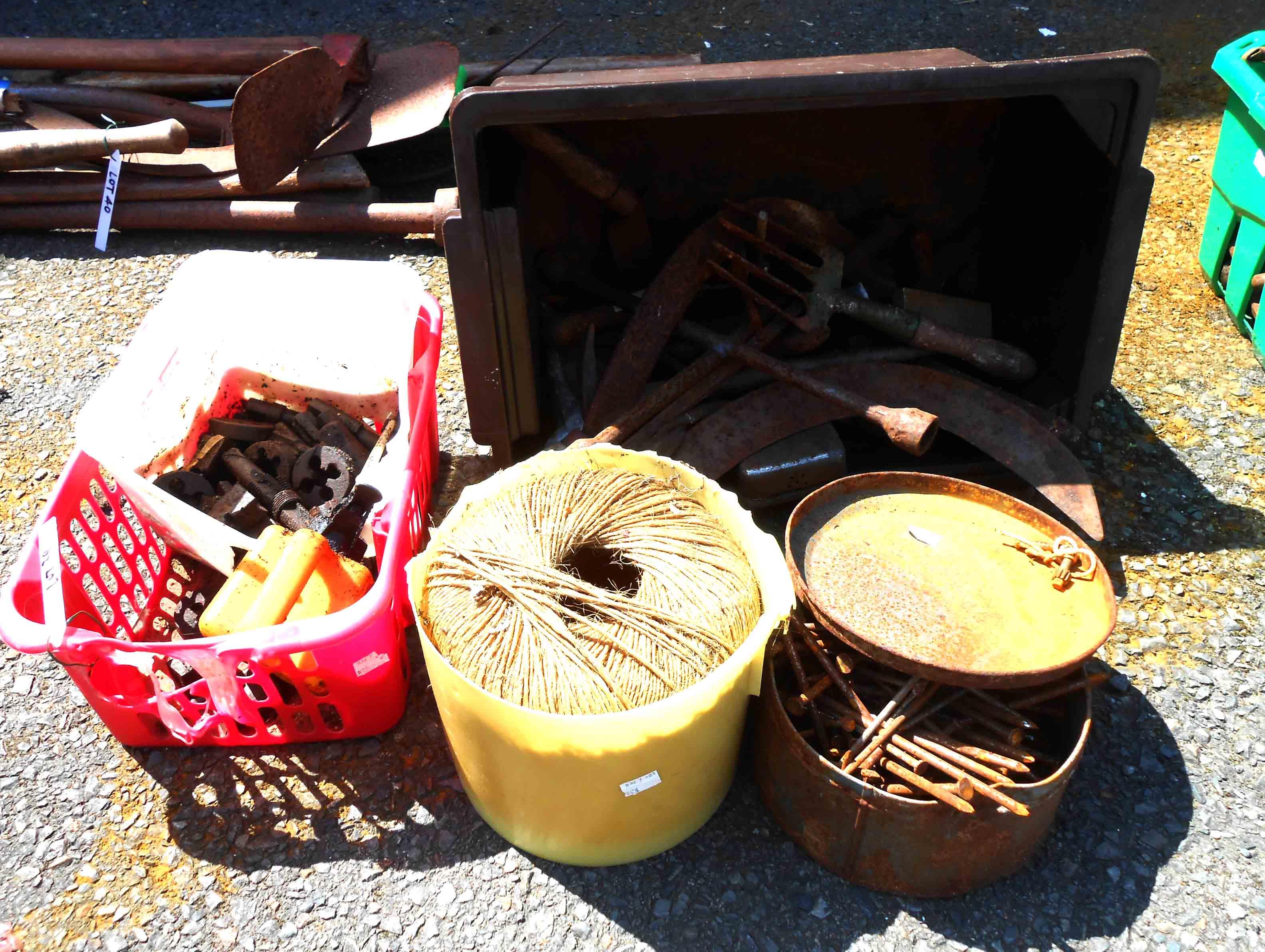 A quantity of old tools, etc.
