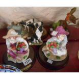 A Border Fine Arts James Herriot figurine Shared Resources, a Country Artists figurine a/f, etc.