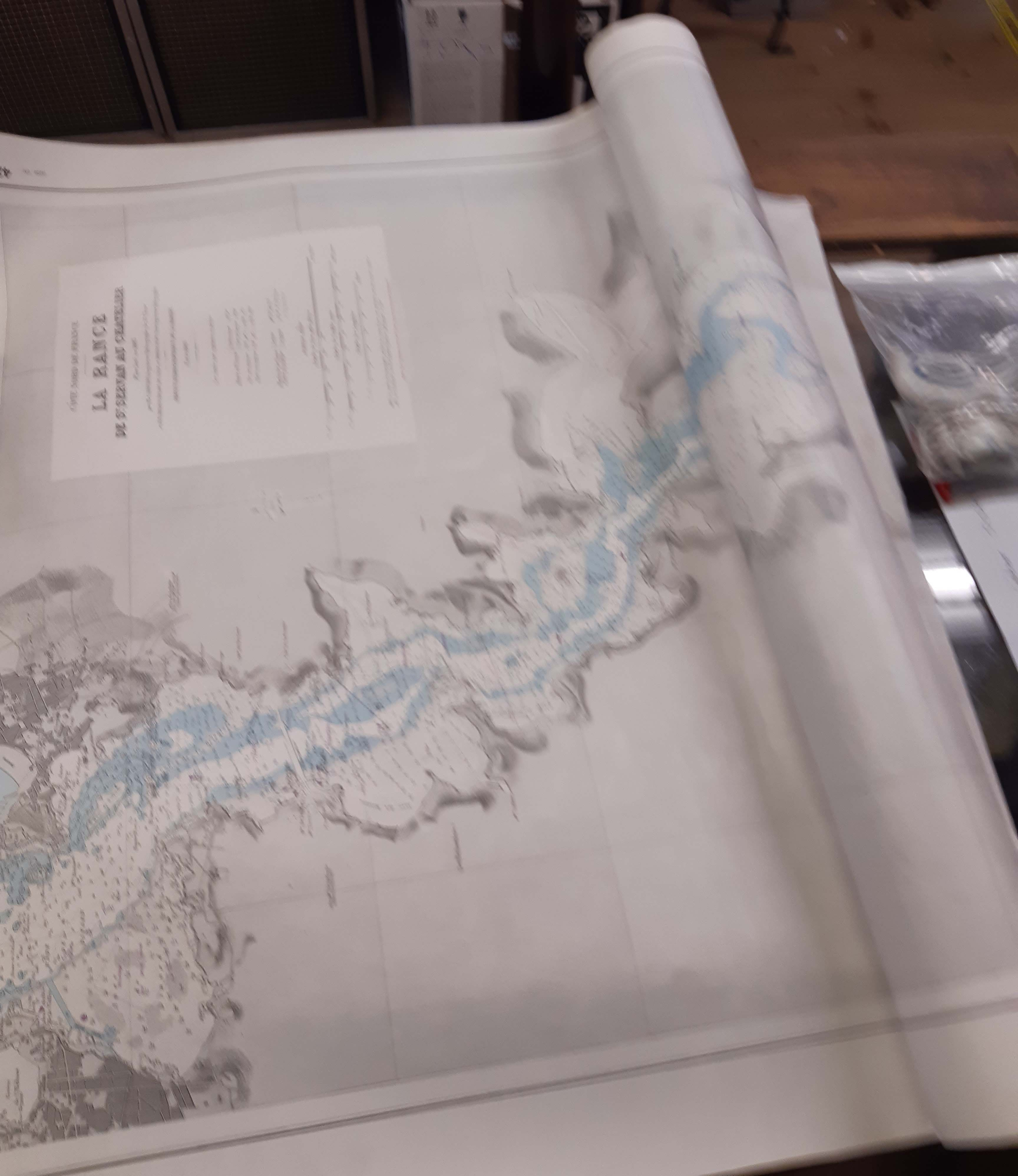 A four old nautical charts, comprising one of the British Fleets, one of the Pacific Ocean and two - Image 2 of 2