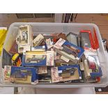 A crate of boxed Days Gone By and other die cast vehicles