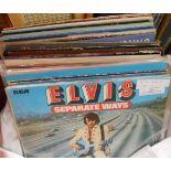 A bag of vinyl LP records