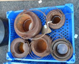 A crate of glue/smelting pots