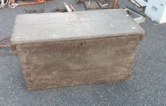 A 1.3m stained pine transit trunk - a/f