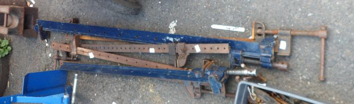 Six sash clamps