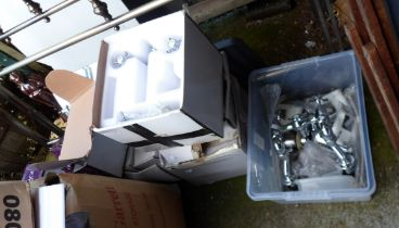 A large quantity of boxed bathroom taps - unopened