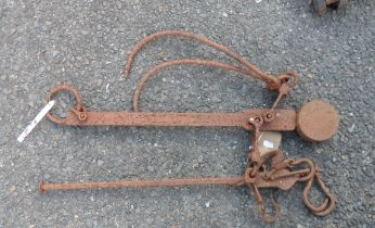 A set of old sack scales by W. & T. Avery Ltd