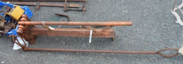 An angle iron guillotine - sold with a metal cutter and an animal holder