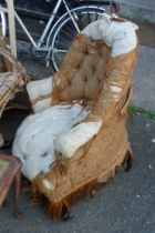 A chair for re-upholstery and restoration