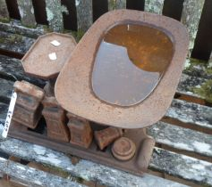 A set of old scales complete with weights