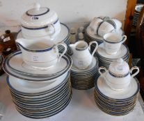A large quantity of Noritake dinner and tea ware in the Legendary pattern including vegetable