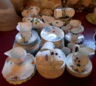 A large quantity of assorted teawares including Susie Cooper part coffee set, Colclough ivy