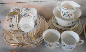 A Shelley bone china part tea set comprising six trios, milk and sugar, sandwich set and two bread