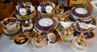 A quantity of Coalport Lady Anne bone china tea and dinnerware including cups and saucers, two