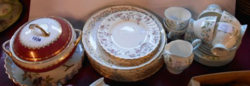 A Royal Tuscan part tea set in the Springtime pattern comprising five trios, milk jug and spare