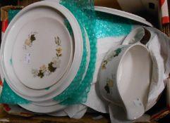 A vintage Royal Doulton Westwood pattern part dinner service