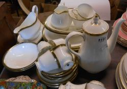 A selection of Wedgwood bone china Chester pattern tea and dinnerware comprising coffee pot, five