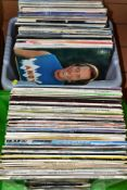 TWO TRAYS CONTAINING OVER ONE HUNDRED AND FIFTY LP'S including Del Shannon, Bob Dylan, Elvis Presley