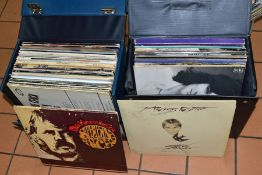 TWO CASES CONTAINING OVER FIFTY LP's including Small Faces Ogdens Nut (MLP 012), Camel Mirage (SML