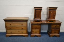 A WILLIS AND GAMBIER LOUIS PHILLIPE CHERRYWOOD FRENCH FOUR PIECE BEDROOM SUITE comprising a chest of