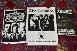 MUSIC POSTERS, 'THE DAMNED' comprising first anniversary gigs, Marquee 3 4 5 6 July, different