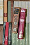 A BOX OF FOLIO SOCIETY BOOKS IN SLIP CASES, titles include Desperate Remedies by Thomas Hardy, The