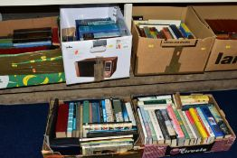 SIX BOXES OF ASSORTED BOOKS, to include twenty two volumes of Nevil Shute novels by Heron Books,