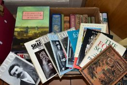 A BOX OF BOOKS, to include Folio Society 'Elizabeth I', 'The Iliad' and 'The Odyssey' by Homer, 'The