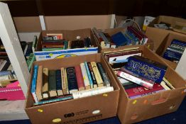 SEVEN BOXES OF VARIOUS BOOKS AND MAGAZINES, to include Antique collecting, Cookery, Birds,