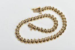 A MODERN DIAMOND LINE BRACELET, estimated round brilliant cut weight 1.0ct, bracelet measuring