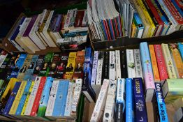 TWO BOXES OF BOOKS AND MAGAZINES, books include Martina Cole, Danielle Steel, Dan Brown, Joanna